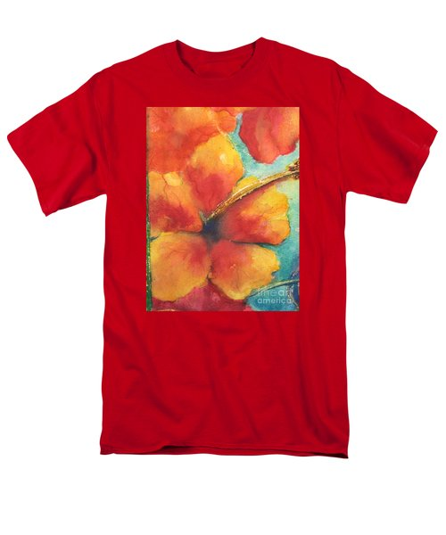 Men's T-Shirt  (Regular Fit) featuring the painting Flowers In Bloom by Chrisann Ellis