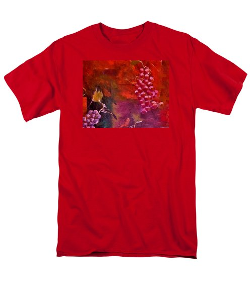 Men's T-Shirt  (Regular Fit) featuring the painting Flying Grapes by Lisa Kaiser
