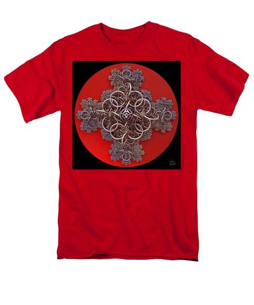 Men's T-Shirt  (Regular Fit) featuring the digital art Fractal Cruciform by Manny Lorenzo