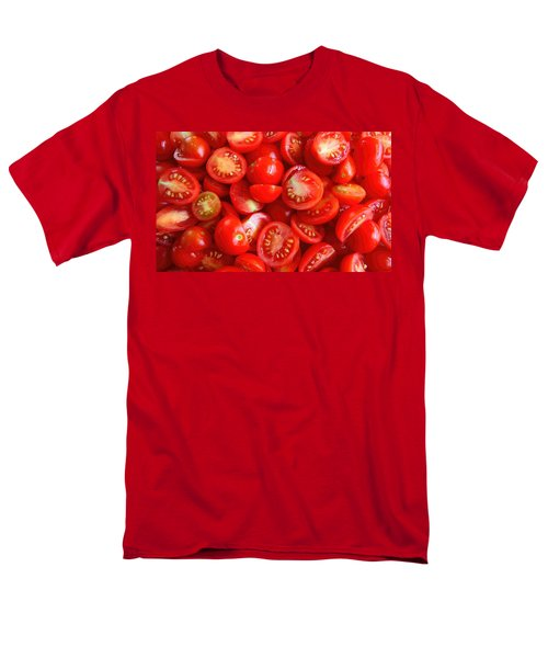 Fresh Red Tomatoes Men's T-Shirt  (Regular Fit) by Amanda Stadther