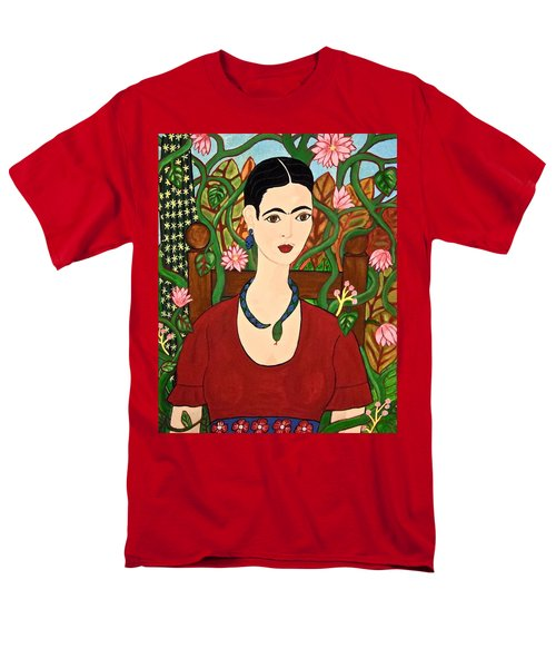 Frida With Vines Men's T-Shirt  (Regular Fit) by Stephanie Moore