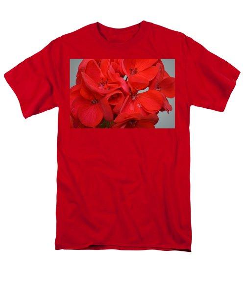 Geranium Red Men's T-Shirt  (Regular Fit) by Maria Urso