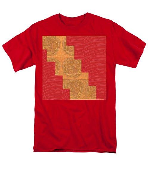 Golden Circles Red Sparkle  Men's T-Shirt  (Regular Fit) by Navin Joshi