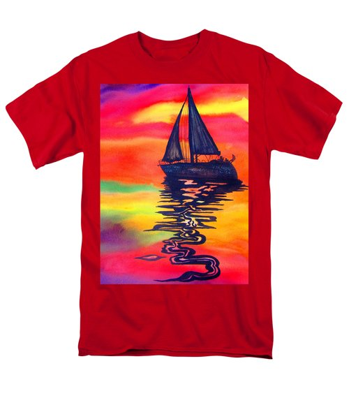 Men's T-Shirt  (Regular Fit) featuring the painting Golden Dreams by Lil Taylor