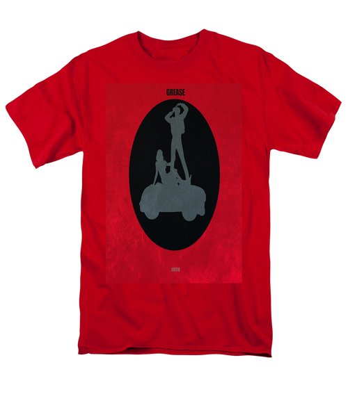 Men's T-Shirt  (Regular Fit) featuring the digital art Grease Movie Poster by Brian Reaves