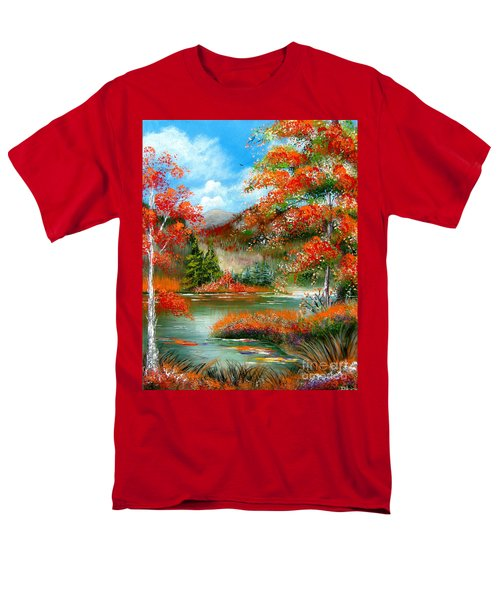 Happy Ever After Autumn  Men's T-Shirt  (Regular Fit) by Patrice Torrillo