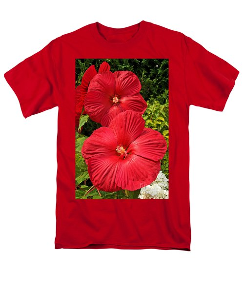 Hardy Hibiscus Men's T-Shirt  (Regular Fit) by Sue Smith