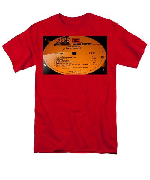 Harvest - Neil Young Side 1 Men's T-Shirt  (Regular Fit) by Marcello Cicchini