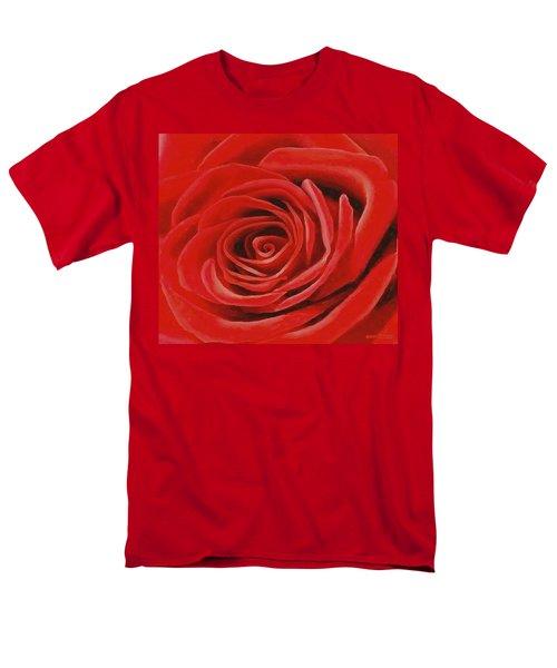 Heart Of A Red Rose Men's T-Shirt  (Regular Fit) by Sophia Schmierer