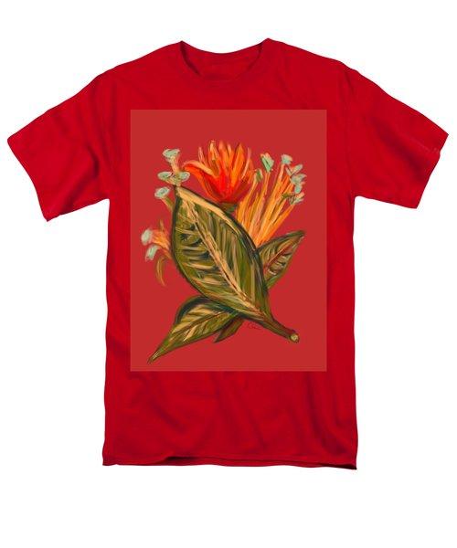 Men's T-Shirt  (Regular Fit) featuring the digital art Hot Tulip L by Christine Fournier