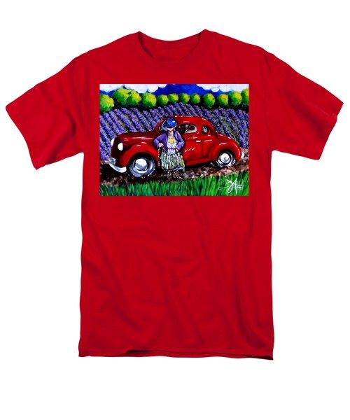J. C. 1931 Fishing In Red Men's T-Shirt  (Regular Fit) by Jackie Carpenter