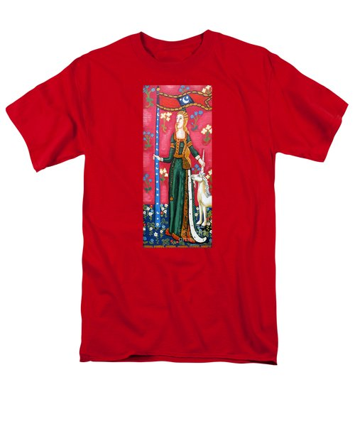 Lady And The Unicorn La Pointe Men's T-Shirt  (Regular Fit)
