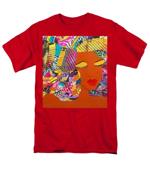 Men's T-Shirt  (Regular Fit) featuring the tapestry - textile Lady J by Apanaki Temitayo M