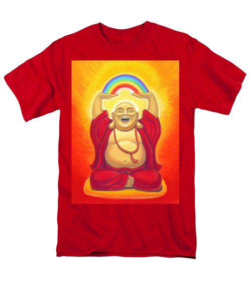 Laughing Rainbow Buddha Men's T-Shirt  (Regular Fit) by Sue Halstenberg