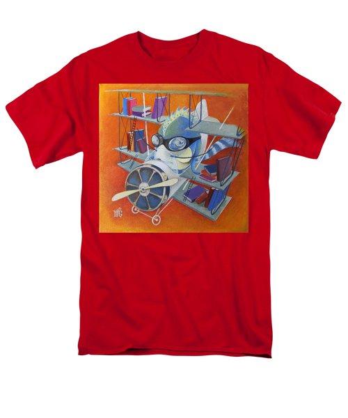 Librarian Pilot Men's T-Shirt  (Regular Fit) by Marina Gnetetsky