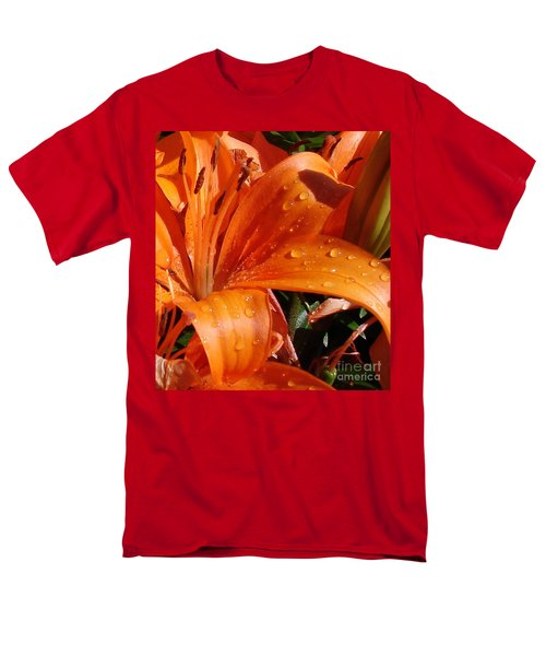 Men's T-Shirt  (Regular Fit) featuring the photograph Lily Drops by Kerri Mortenson