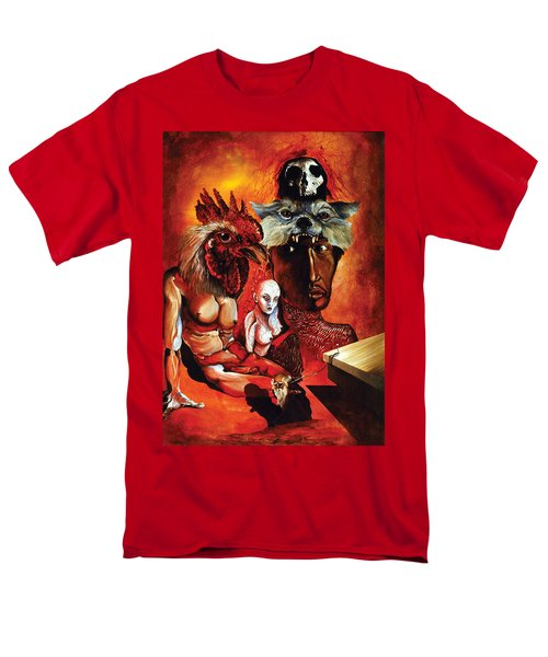 Men's T-Shirt  (Regular Fit) featuring the painting Magic Poultry by Otto Rapp