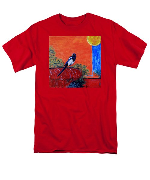 Magpie Singing At The Bath Men's T-Shirt  (Regular Fit) by Xueling Zou