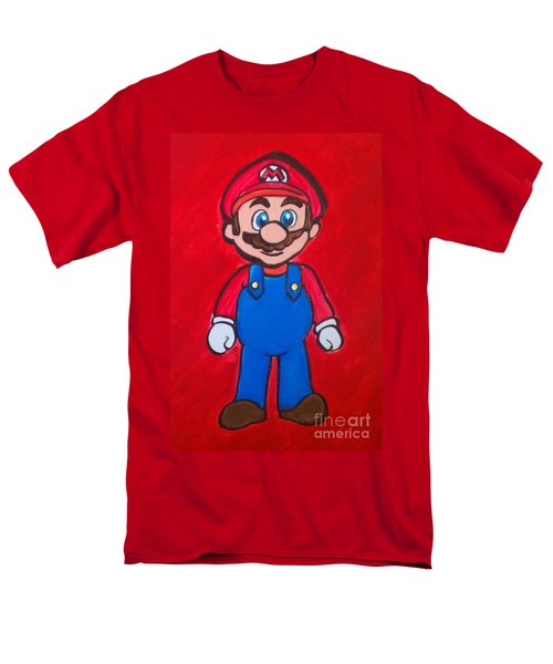 Men's T-Shirt  (Regular Fit) featuring the painting Mario by Marisela Mungia