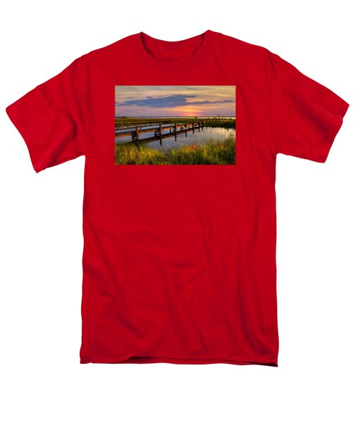 Marsh Harbor Men's T-Shirt  (Regular Fit) by Debra and Dave Vanderlaan