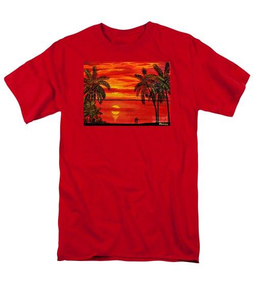 Maui Sunset Men's T-Shirt  (Regular Fit) by Teresa Wegrzyn