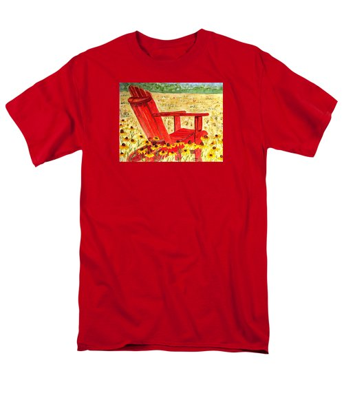 Men's T-Shirt  (Regular Fit) featuring the painting Meet Me In The Meadow by Angela Davies