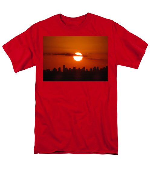 Men's T-Shirt  (Regular Fit) featuring the photograph Miami Sunset by Jennifer Wheatley Wolf