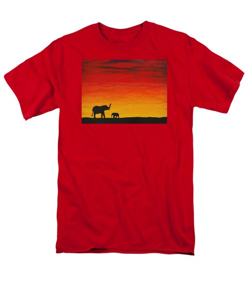 Men's T-Shirt  (Regular Fit) featuring the painting Mother Africa 1 by Michael Cross