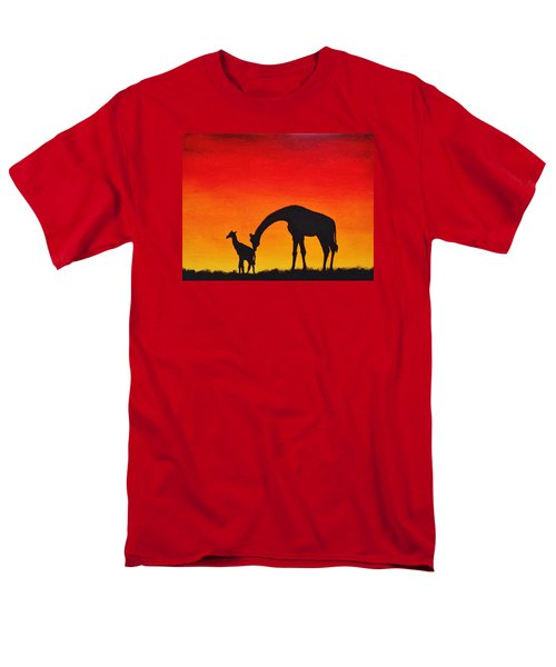 Men's T-Shirt  (Regular Fit) featuring the painting Mother Africa 2 by Michael Cross