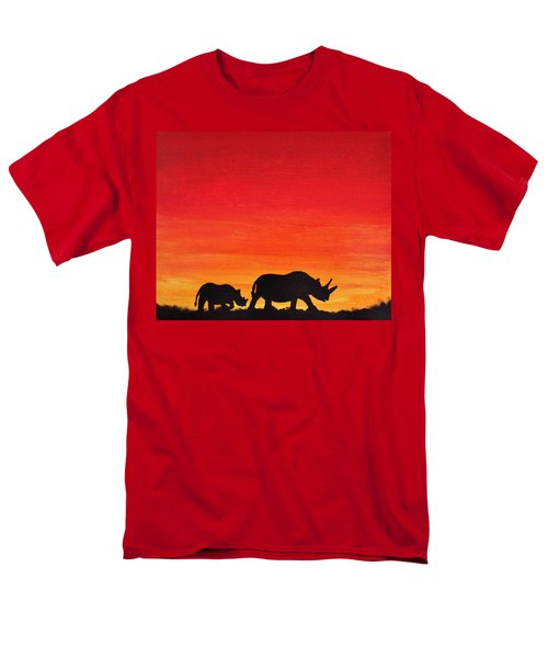 Men's T-Shirt  (Regular Fit) featuring the painting Mother Africa 5 by Michael Cross