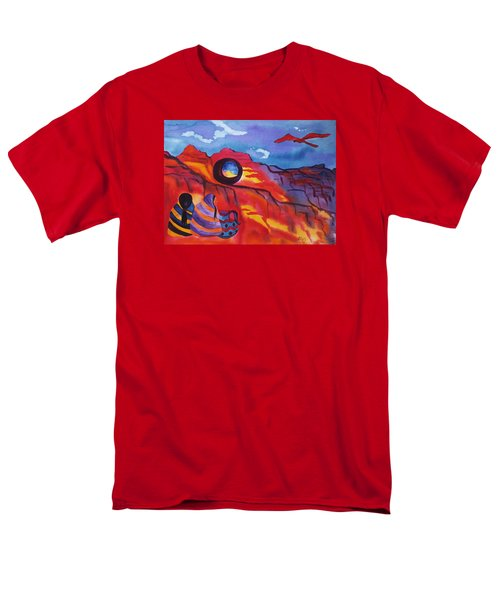 Native Women At Window Rock Men's T-Shirt  (Regular Fit) by Ellen Levinson