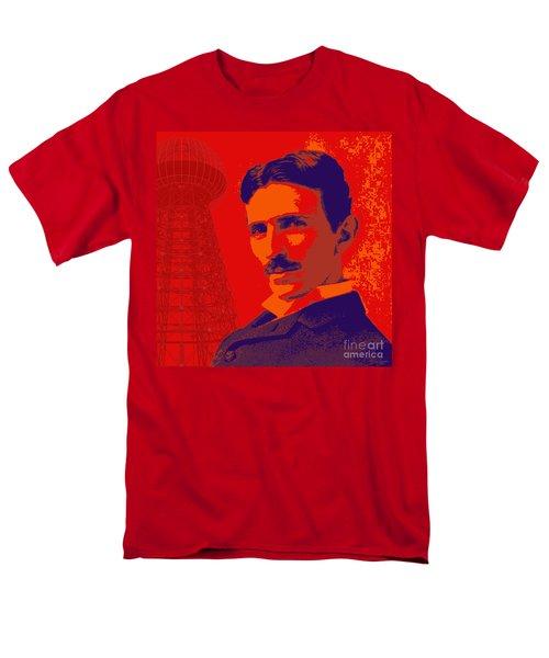 Nikola Tesla #1 Men's T-Shirt  (Regular Fit) by Jean luc Comperat