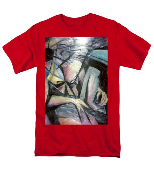 Men's T-Shirt  (Regular Fit) featuring the mixed media Nude Model In Studio by Carrie Maurer