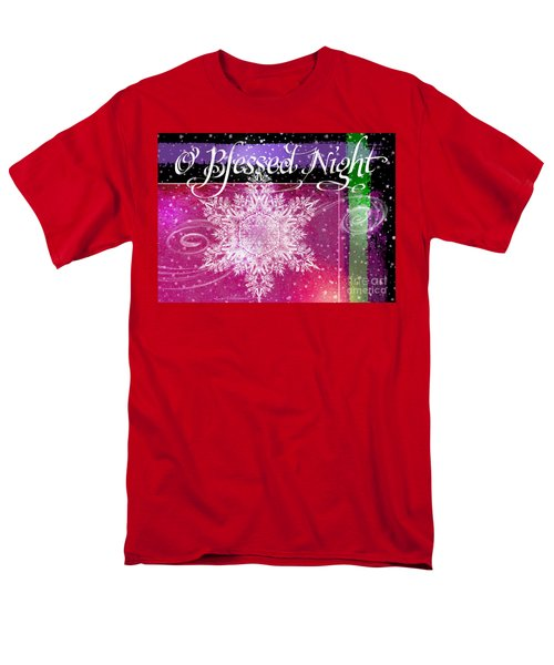 O Blessed Night Greeting Men's T-Shirt  (Regular Fit)