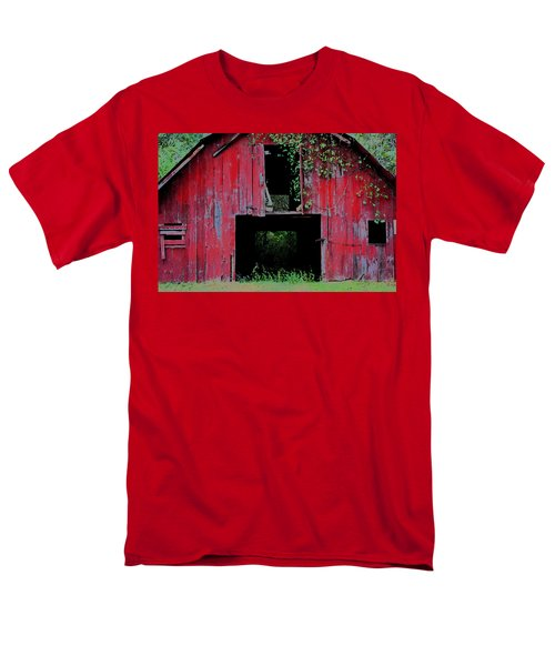 Men's T-Shirt  (Regular Fit) featuring the photograph Old Red Barn IIi by Lanita Williams