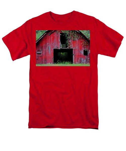 Old Red Barn IIi Men's T-Shirt  (Regular Fit) by Lanita Williams