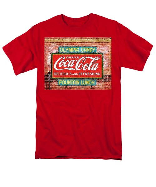 Men's T-Shirt  (Regular Fit) featuring the painting Olympia Candy by Sandy MacGowan