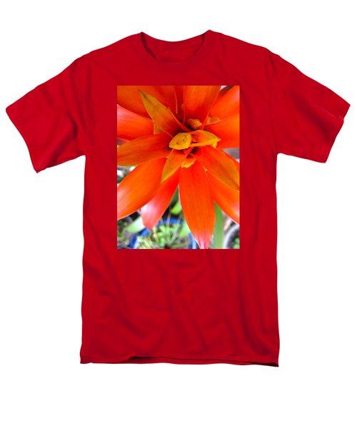 Orange Bromeliad Men's T-Shirt  (Regular Fit) by Lehua Pekelo-Stearns