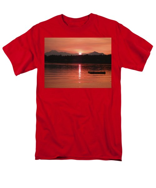 Our Beach At Sunset  Men's T-Shirt  (Regular Fit) by Kym Backland