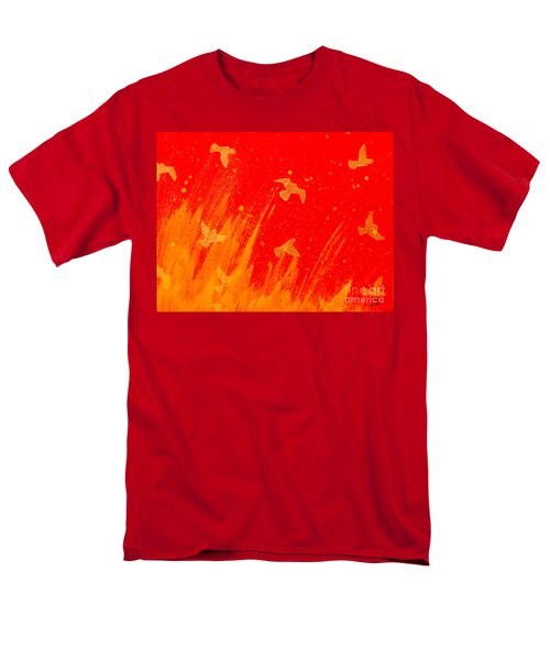 Out Of The Fire Men's T-Shirt  (Regular Fit) by Stefanie Forck
