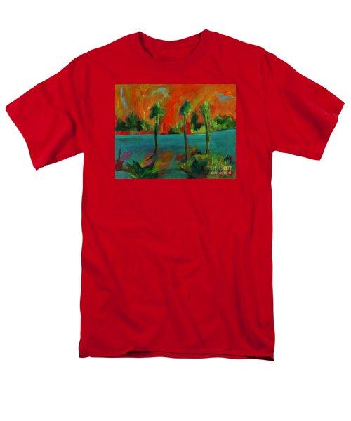 Palm Trio Sunset Men's T-Shirt  (Regular Fit) by Elizabeth Fontaine-Barr