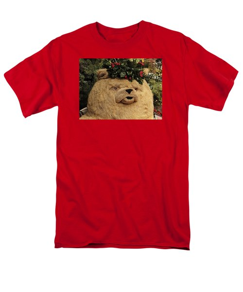 Men's T-Shirt  (Regular Fit) featuring the photograph Papa Bear Gets Christmas Spirit by Nadalyn Larsen