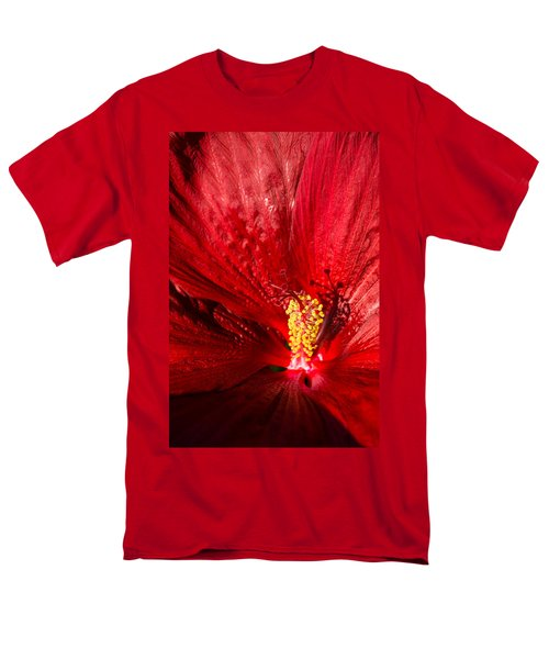 Passionate Ruby Red Silk Men's T-Shirt  (Regular Fit) by Georgia Mizuleva