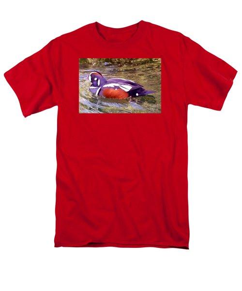 Men's T-Shirt  (Regular Fit) featuring the photograph Patriot Duck by Susan Garren