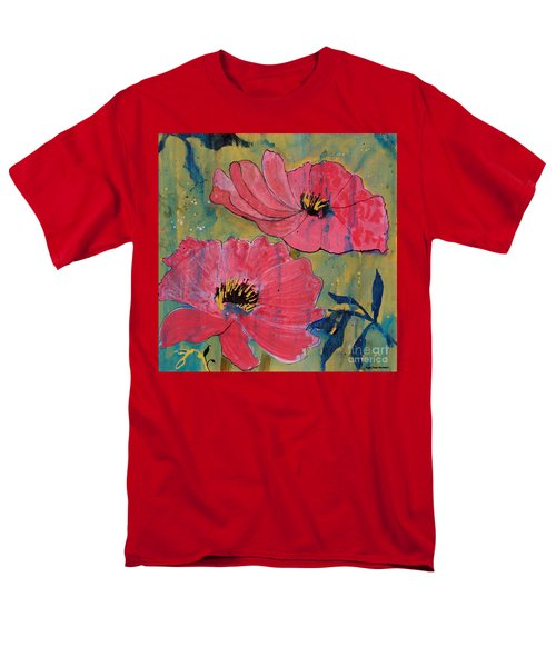 Men's T-Shirt  (Regular Fit) featuring the painting Pink Blossoms by Robin Maria Pedrero