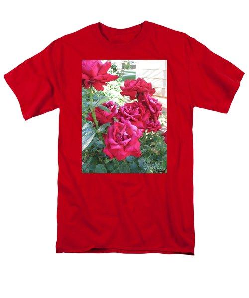 Men's T-Shirt  (Regular Fit) featuring the photograph Pink Roses by Chrisann Ellis