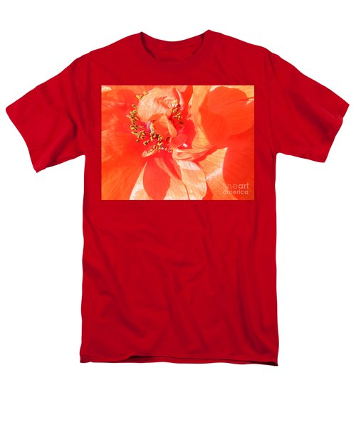 Men's T-Shirt  (Regular Fit) featuring the photograph Poppy Palette In Red by Brian Boyle