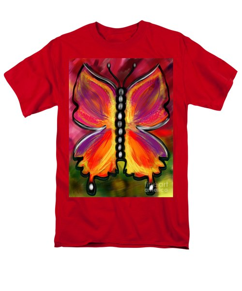 Rainbow Butterfly Men's T-Shirt  (Regular Fit)