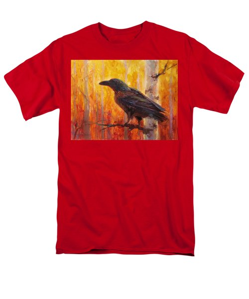 Raven Glow Autumn Forest Of Golden Leaves Men's T-Shirt  (Regular Fit) by Karen Whitworth