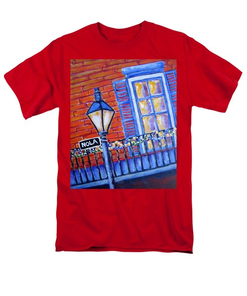 Ready For Mardi Gras Men's T-Shirt  (Regular Fit) by Suzanne Theis